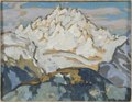 The White Mountain Top. Study from Switzerland (Anna Boberg) - Nationalmuseum - 20526.tif