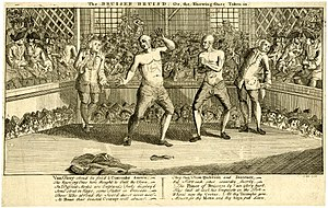 Jack Broughton - The Bruiser Bruisd; Or, the Knowing Ones Taken-in. A boxing match between John Broughton and Jack Slack