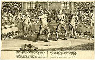 1753 illustration of a boxing match – History of Boxing