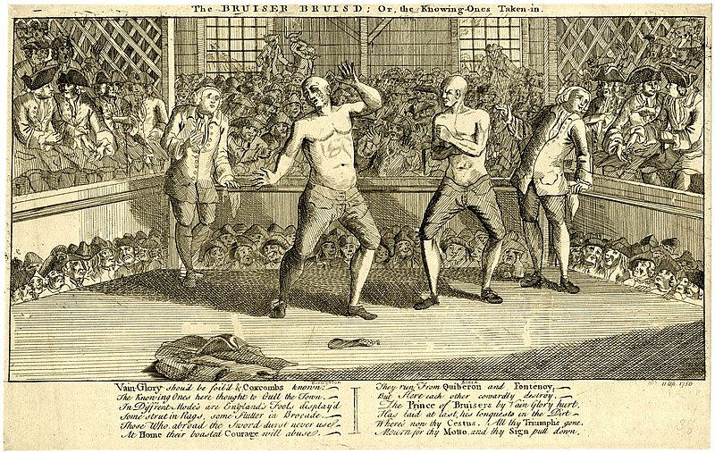 1753 Illustration of British Boxing Match
