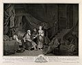 The childless Sarah presents Hagar, her handmaid, to her hus Wellcome V0034436.jpg