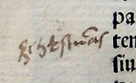 The earliest known Lithuanian glosses (~1520–1530), word (šykštumas)