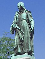 The first Slovene national monument (created in 1889 by Alojz Gangl)