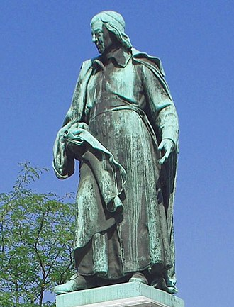 Culture of Slovenia - The sculpture of the poet Valentin Vodnik (1758-1819) was created by Alojz Gangl in 1889 as part of Vodnik Monument, the first Slovene national monument.
