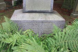 James David Forbes - The inscription on James David Forbes' grave