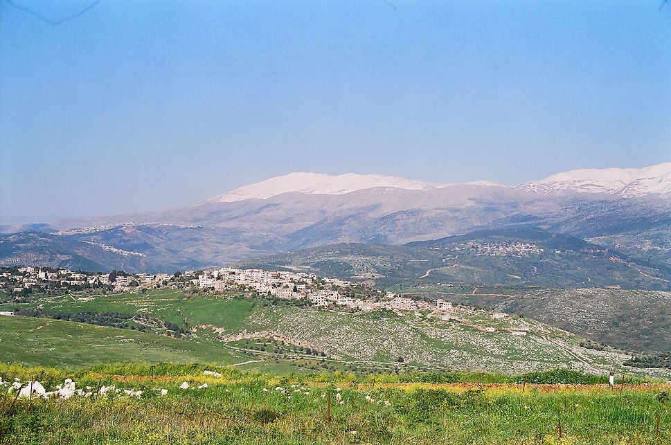 The view from Shreife IDF military post in lebanon