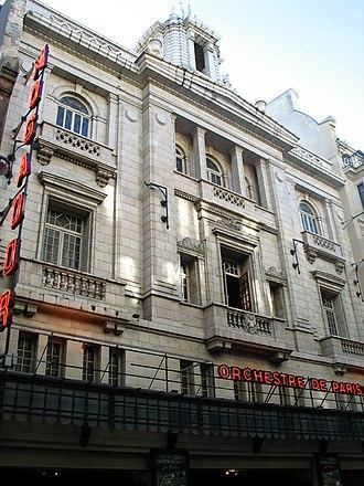 Théâtre Mogador - Image: Theatre de mogador paris 2