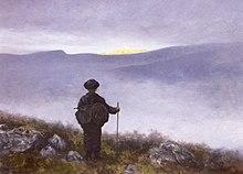 Soria Moria by Theodor Kittelsen: l'eroe intravede la fine della sua cerca.