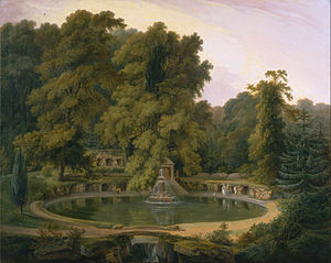 Thomas Daniell - Thomas Daniell - Temple, Fountain and Cave in Sezincote Park