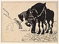 Three Horses Tended by Men; Stone Pavement MET DP-1562-001.jpg