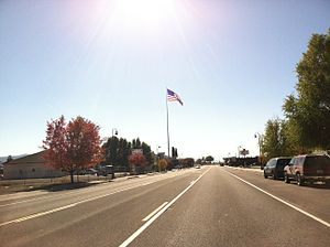 Dorris, California - Highway 97 through downtown Dorris