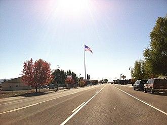 Dorris, California - Highway 97 through downtown Dorris