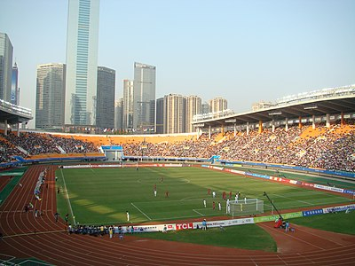 Tianhe Stadium is the home of Guangzhou Evergrande Tianhe Stadium.jpg