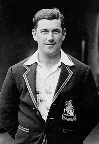 Tich Cornford - Cornford wearing his blazer from the 1930 tour of New Zealand