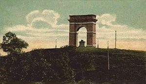 Tilton, New Hampshire - Memorial Arch (Northfield) in 1909