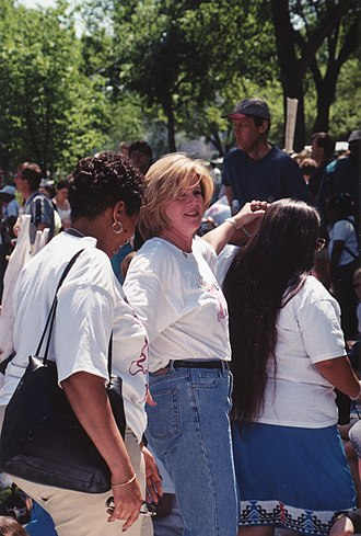 Million Mom March - Tipper Gore at the march