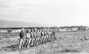 Tirat Zvi - Palmach members training at Tirat Zvi at the end of 1947