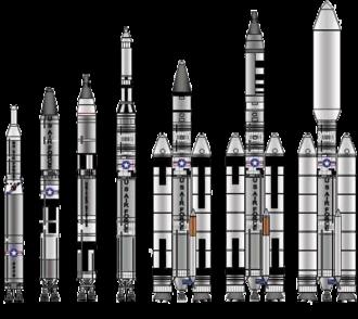 Titan (rocket family) - The Titan rocket family.