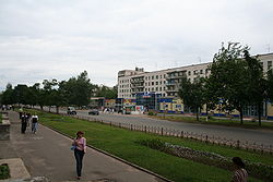 Karla Marksa Street, the longest in Tikhvin