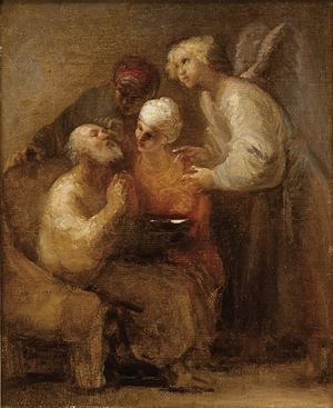 Book of Tobit - Tobias heals the blindness of his father Tobit, by Domingos Sequeira