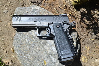 Suicide by cop - An airsoft handgun, often indistinguishable from an actual firearm.