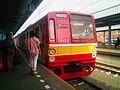 Tokyo Metro 7000 series at Tangerang Station.jpg
