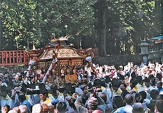 Mikoshi - This mikoshi enshrines Tokugawa Ieyasu at the Tōshō-gū in Nikkō