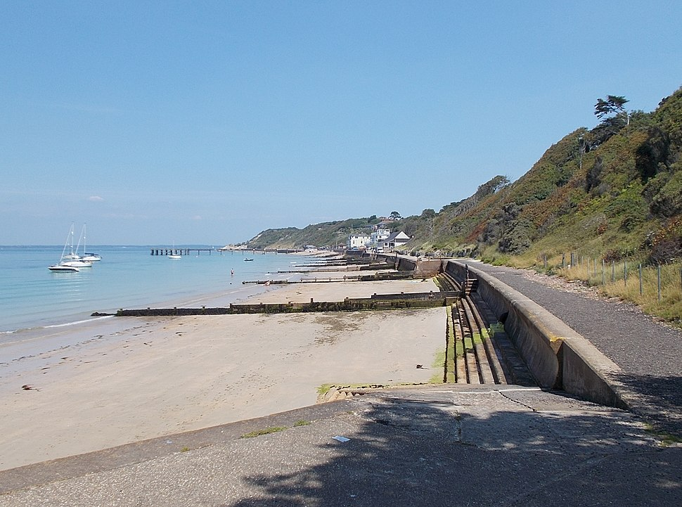 Totland beach, IW, UK
