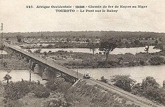 Bridge over the Bakoy near Toukoto (in the twenties)