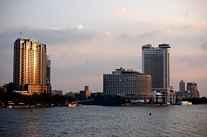 Cairo - Image: Towers on the Nile