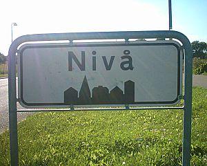 Nivå - Image: Town sign Nivå 01 08 04