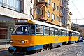 Tram in Sofia near Central mineral bath 2012 PD 062.jpg