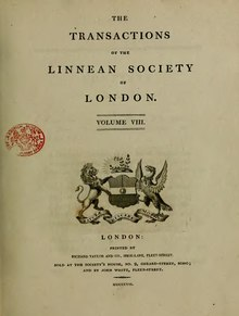 Transactions of the Linnean Society of London, Volume 8 (1807).djvu