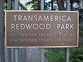 Transamerica Redwood Park sign.JPG