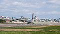 Transasia Airways ATR 72-212A B-22807 Turning Head at Taipei Songshan Airport Runway 20150103.jpg