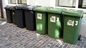 Trash bins in Regensburg