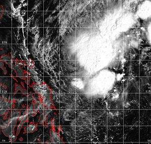 1999 Pacific typhoon season - Image: Tropical Storm Iris 1999