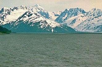 Kenai Mountains - Image: Turnagain Arm Carpathian Peak Alaska