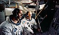 Two members of the Apollo 10 prime crew participate in simulation activity.jpg