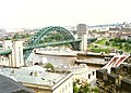 Tyne Bridge and Swing Bridge, 1989 - geograph.org.uk - 83322.jpg
