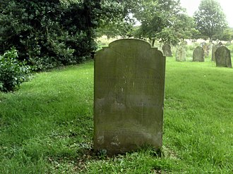 Tetford - Tyso Boswell and Edward Hearn (or Heron) double grave at Tetford