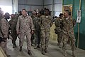 U.S. Marine Corps Sgt. Maj. Bryan B. Battaglia, fourth from left, the senior enlisted adviser to the Chairman of the Joint Chiefs of Staff, tours the retrograde operations facility at Bagram Airfield in Parwan 130504-A-CL397-230.jpg