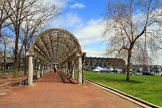 Neighborhoods in Boston - Christopher Columbus Park in Downtown Waterfront