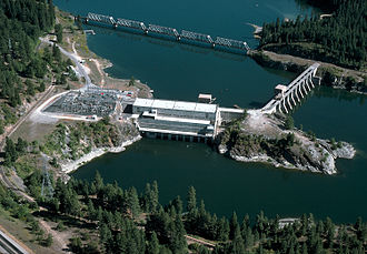 Pend Oreille River - Albeni Falls Dam on the Pend Oreille River