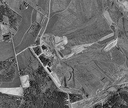 Foto aérea del Vuelo 93 de United Airlines, derribado sobre Pensilvania