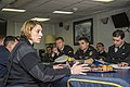USN Lt. Catherine Reppert briefs Romanian and Bulgarian naval officers in preparation for an exercise aboard the USS Truxtun (DDG 103) - 140310-N-EI510-003.jpg