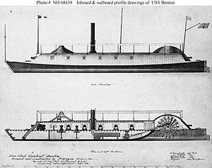 USS Benton (1861) - Drawing of USS Benton