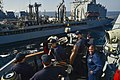 USS Gridley conducts a replenishment. (15601037084).jpg