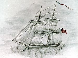 USS Somers (1842) - Colored sketch