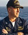 US Navy 030113-N-3235P-501 U.S. Navy Commander John J. Costello, Commanding Officer of the guided missile destroyer USS Donald Cook (DDG 75).jpg